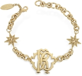 Roberto Cavalli RC Icon Golden Metal Bracelet w/Stars