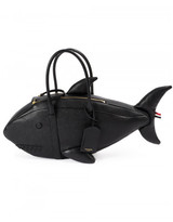 Thom Browne shark pebble grain leather bag