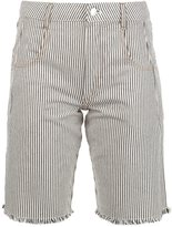 Alexander Wang striped denim shorts - women - Cotton - 24