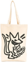 Marc Jacobs stinky rat print tote - men - Cotton - One Size