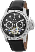 Burgmeister Men's Automatic Stainless Steel and Leather Casual Watch, Color: (Model: BM231-122)