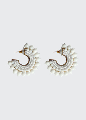 Mignonne Gavigan Mini Pearl Fiona Hoop Earrings