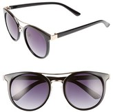 BP Women's 53Mm Round Sunglasses - Black/ Gold