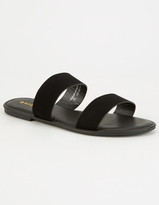 Bamboo Double Strap Womens Sandals
