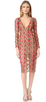 For Love & Lemons Amelia Textured Midi Dress