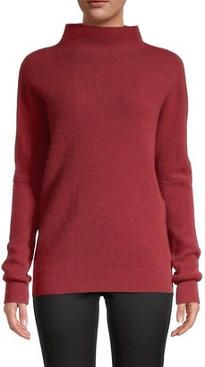 Saks Fifth Avenue Funnelneck Rib-Knit Cashmere Sweater