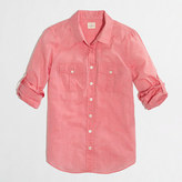 J.Crew Factory Cotton voile camp shirt in perfect fit