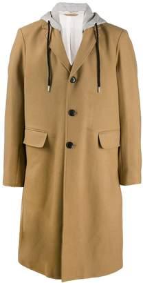 Diesel hooded single-breasted coat
