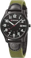 Wenger Men's 'City Active' Swiss Quartz Stainless Steel and Nylon Casual Watch, Color:Green (Model: 01.1441.115)