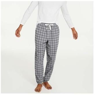 Joe Fresh Men's Flannel Sleep Joggers, Grey (Size S)