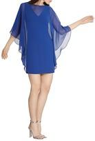 Halston Sheer Overlay Dress