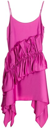 Christopher Kane Satin Frill Cami Dress