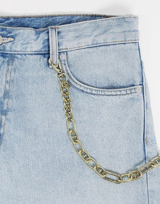 ICON BRAND jean chain in gold with multiple link design
