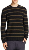Vince Stretch Merino Wool Textured Striped Sweater
