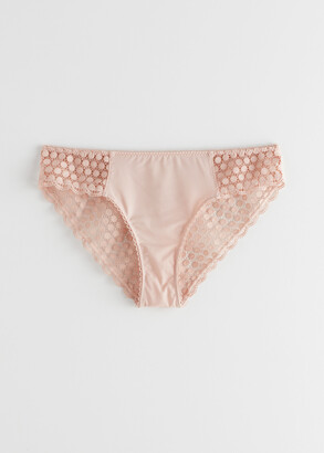 And other stories Dotted Eyelet Lace Briefs