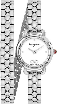 Salvatore Ferragamo Varina Double Bracelet Watch, 22mm