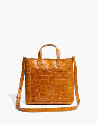 Madewell The Zip-Top Small Transport Crossbody: Croc Embossed Leather Edition