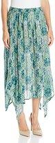 Notations Women's Biader Printed Princess Seam Maxi Skirt