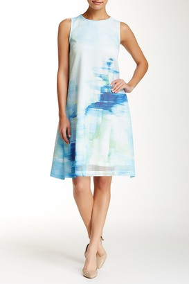 Julia Jordan Sleeveless Abstract Mesh Shift Dress