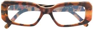 Marni Eyewear Rectangular Frame Tortoise-Shell Glasses