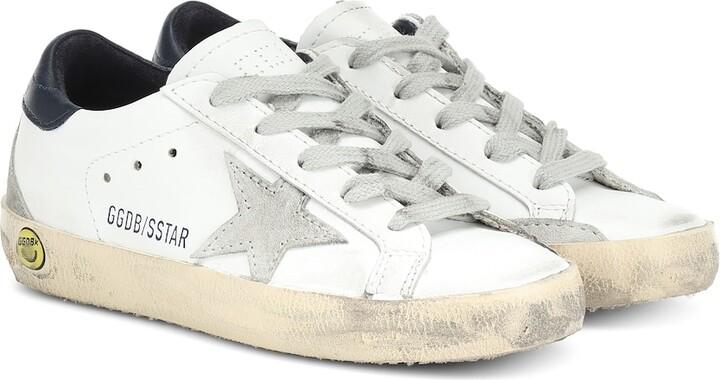 Golden Goose Kids Superstar leather sneakers