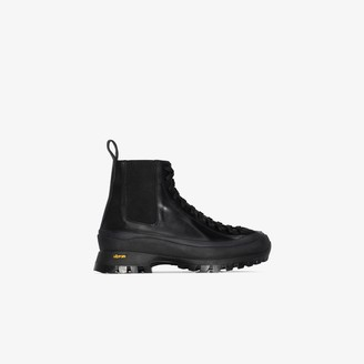 Jil Sander Vibram-sole chunky lace-up boots