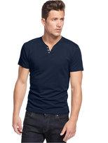Alfani Solid Slim-Fit Split Crew-Neck T-Shirt