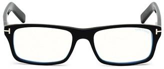 Tom Ford 55MM Square Blue Block Filter Optical Glasses