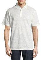 Peter Millar Summertime Linen Polo Shirt, White