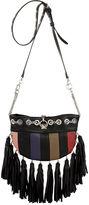 Sonia Rykiel Black Fringed Domino Cross Body Bag
