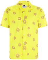 Topman Yellow Daisy Print Short Sleeve Shirt