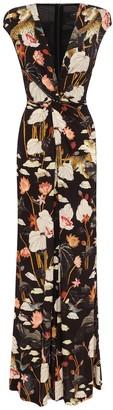 Etro Floral sable maxi dress