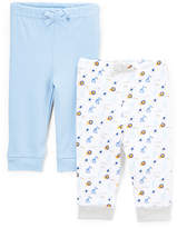 Sweet & Soft Light Blue & White Animal Print Two-Pair Pants Set