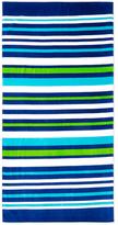 Horizontal Stripes Terry Velour Beach Towel