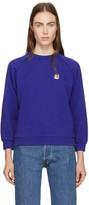 MAISON KITSUNÉ Blue Fox Head Patch Sweatshirt