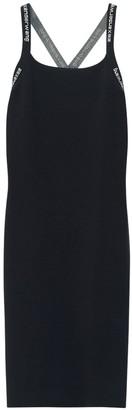 Alexander Wang Fitted Stretch Mini Dress W/ Logo Straps