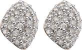 Monica Vinader Nura Mini Teardrop 18ct rose-gold vermeil and diamond stud earrings