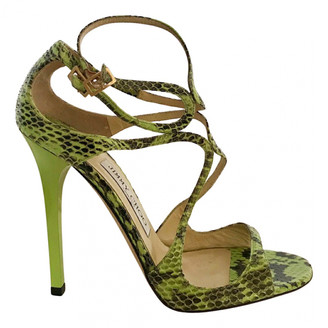 Jimmy Choo Lance Green Python Sandals