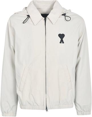 Ami Alexandre Mattiussi A Heart Print Zipped Jacket