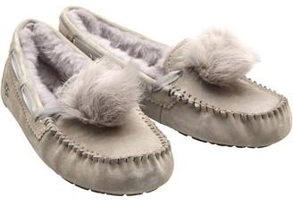 UGG Womens Dakota Pom Pom Slippers Seal