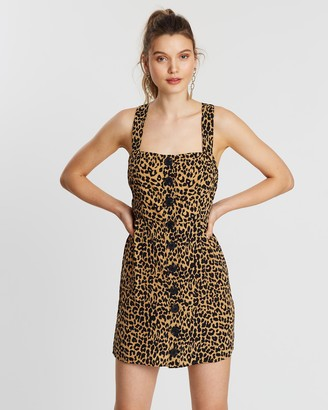 Atmos & Here Button Front Dress