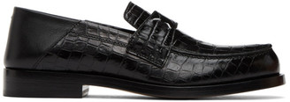 Maison Margiela Black Croc Loafers