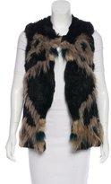 Jocelyn Knit Mixed Fur Vest w/ Tags