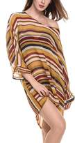 Meaneor Womens Oversized Striped Beach Bikini Swimwear Cover-up swimsuit Cover up