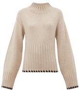 KHAITE Colette Whipstitched Cashmere Sweater - Womens - Cream
