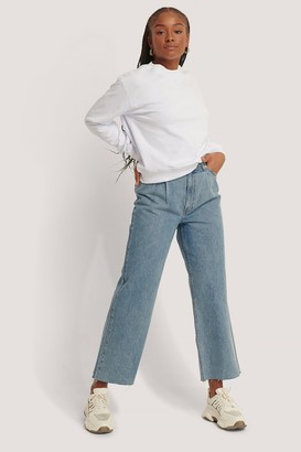 NA-KD Organic Cotton Pleat Detail Jeans