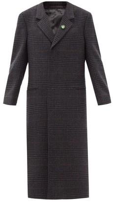 Martine Rose Rex Bottle-cap Single-breasted Wool Coat - Grey
