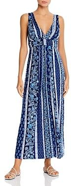 Tommy Bahama Woodblocked Printed Midi Dress Swim Cover-Up