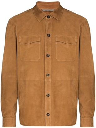 Canali Button-Up Shirt Jacket
