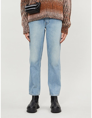 Won Hundred Pearl high-rise straight organic-denim jeans